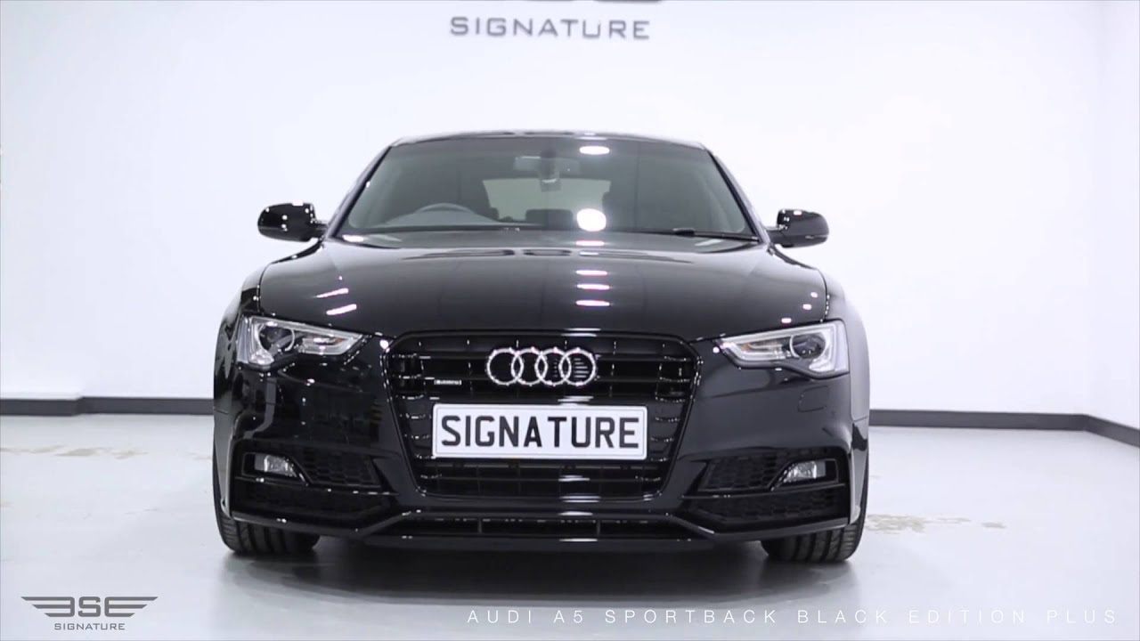 Audi A Sportback Black Edition YouTube - Black audi