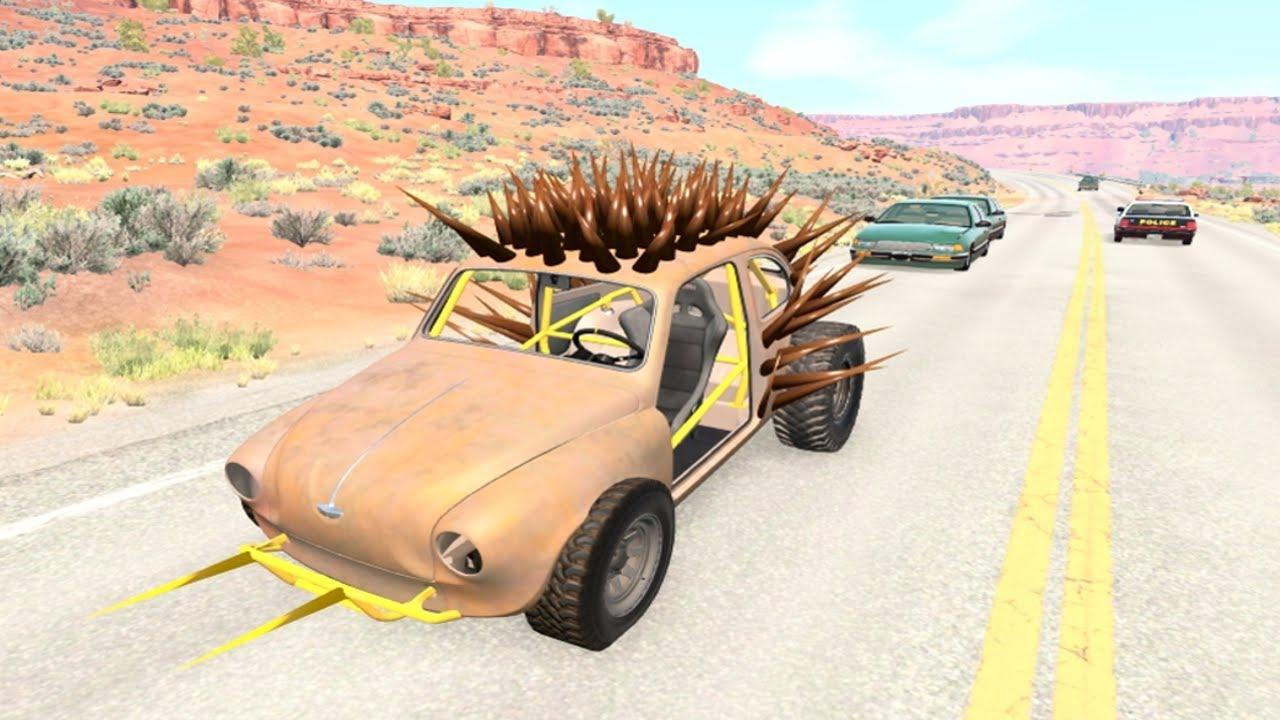 لعبة قيادة سيارة المشوكة - العاب سيارت