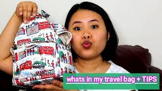 whats in my travel bag + TIPS