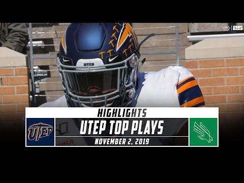UTEP Football Top Plays  Vs. North Texas (2019) | Stadium
