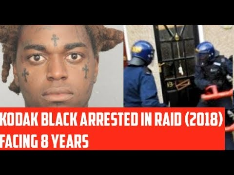 Kodak Black Arrested After Police Raid His House Today January 18 2018, Facing Years in Jail