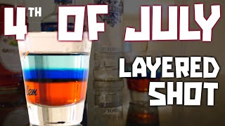 4th Of July Shot - Red White Blue Layered Shot - Cookingskilz