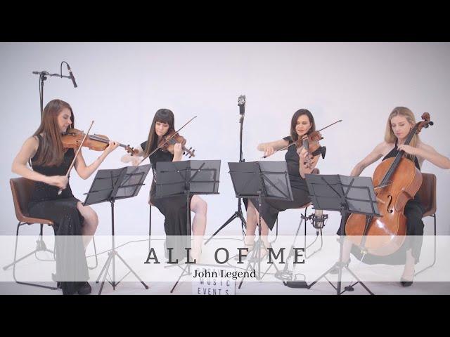 All of Me | John Legend | Bravo Music Events String Quartet