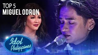 "Miguel Odron sings ""Rise Up"" 