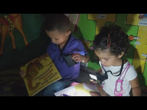 Couple provides books and reading lights to Puerto Rico kids affected by Hurricane