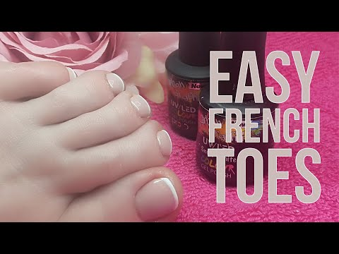 Easy Salon French Toes Using Gel Polish