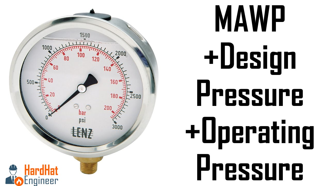 What is MAWP, Design ,Operating & Hydrotest Pressure ?