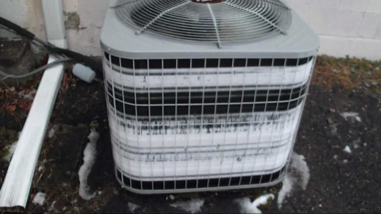 How Does A Heat Pump Heat 2004 Carrier 3 Ton Heat Pump Extremely Frozen Again Youtube