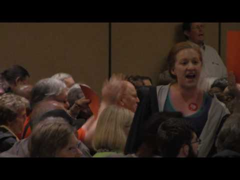 MVI 4258  feminazis  scream at people trying to response to Arkansas Death Penalty Question