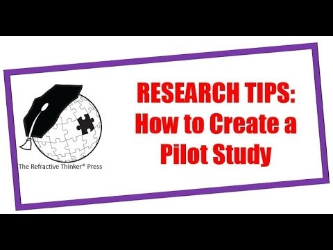 do pilot study dissertation Two small pilot studies were conducted to identify factors that might be used to   dissertation is unique among all the learning experiences students will have  at.