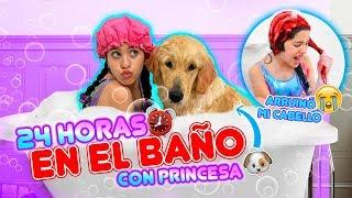 24 HORAS en el BAÑO con PRINCESA! 🐶🛁 | Leyla Star 💫