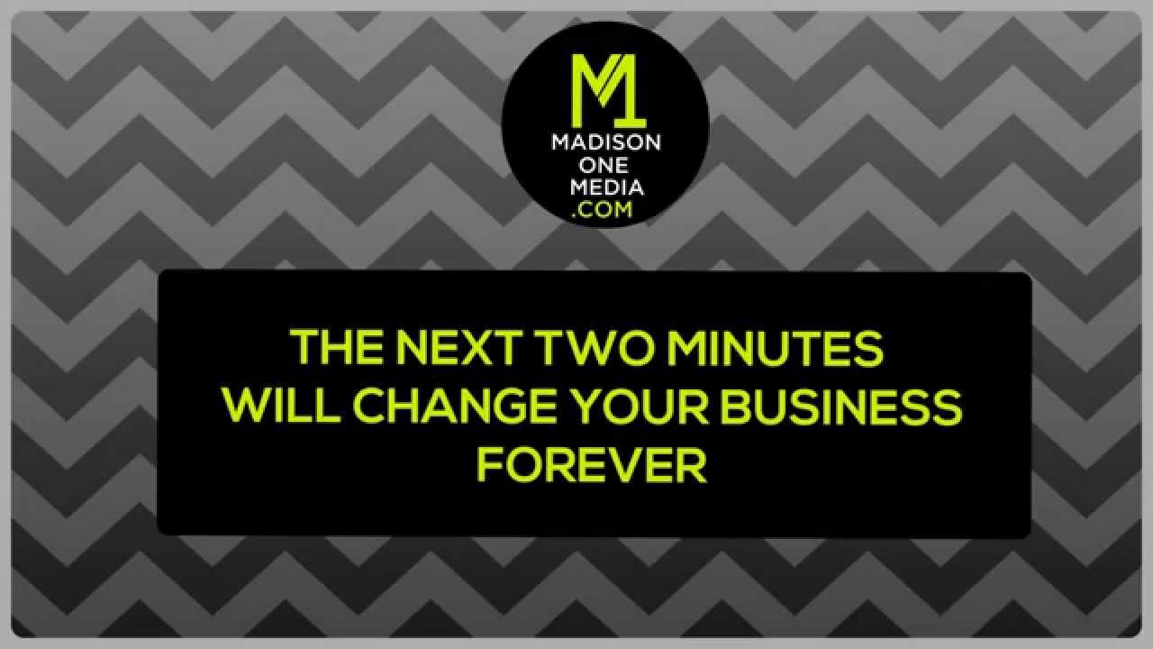 Online Video will Change Your Business Forever MADISON ONE MEDIA - Call 0121 661 4942