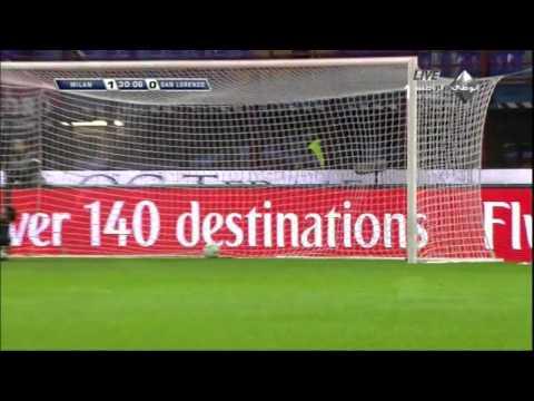 Pazzini Goal against San Lorenzo