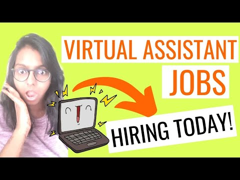 4 VIRTUAL ASSISTANT JOBS FOR BEGINNERS | Work From Home Jobs | Remote Virtual Assistant Jobs