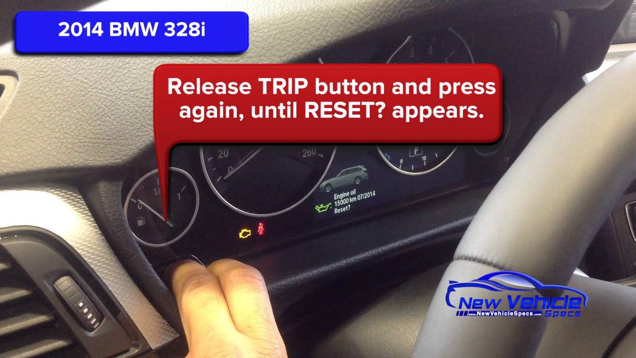 Reset the Oil Service Reminder Light on 2013-2015 BMW 328i