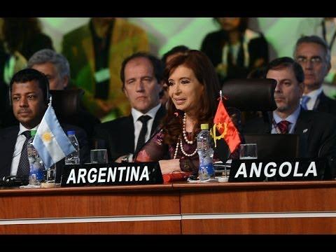 15 de JUN. Plenario cumbre G77+China. Cristina Fernández. Visita oficial a Bolivia. Cumbre G77