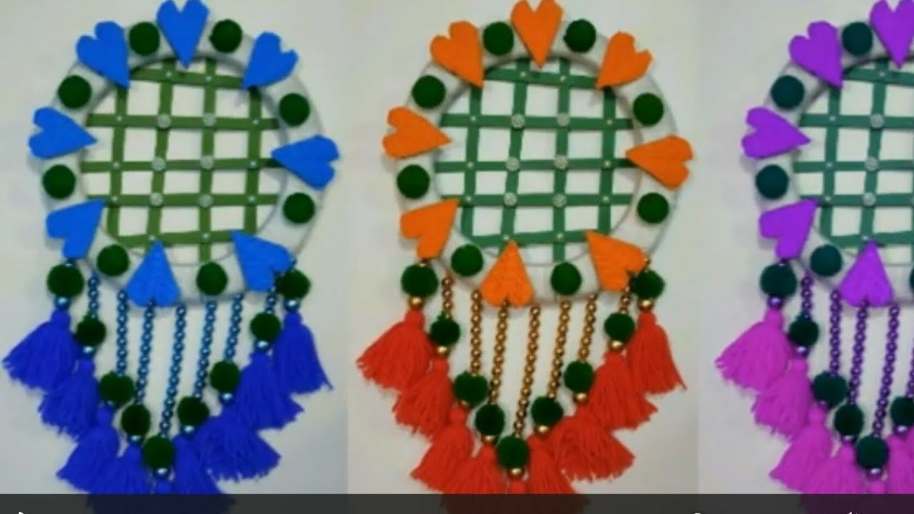 DIY- New Design Awesome Wall Hanging From Woolen//Best Out of Waste Craft Idea