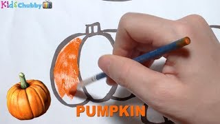 Easy way to Drawing and Coloring Vegetable for Children | How to Drawing and Coloring Vegetable