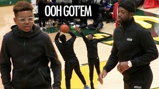 Bronny James Lil Brother Bryce James WORKS Dwyane Wade At Halftime + OVERTIME ENDING!