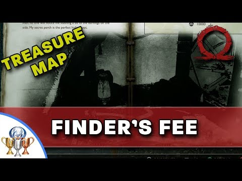 God of War Treasure Map - Finder's Fee - Map and Dig Spot Locations