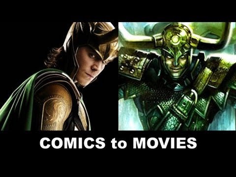 The Avengers 2012 - Tom Hiddleston is Loki!  From Comics to Trailer to Movie!