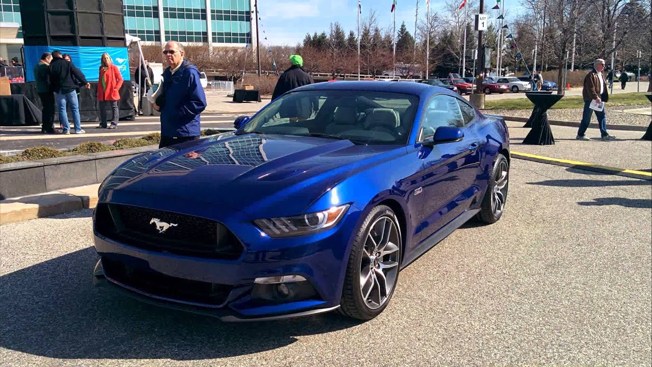 2015 model d mustang deep impact blue metallic youtube - 2015 Ford Mustang V6 Blue