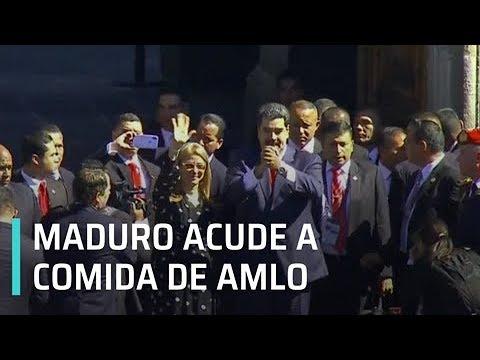 Nicolás Maduro llega a Palacio Nacional para comida con AMLO - Transición 2018