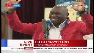 Joshua Kutuny's message to young Kenyans during the COTU prayer day