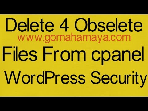 Delete 4 Obselete Files Readme.html, Install.php And Wp-config-sample.php To Increase Security