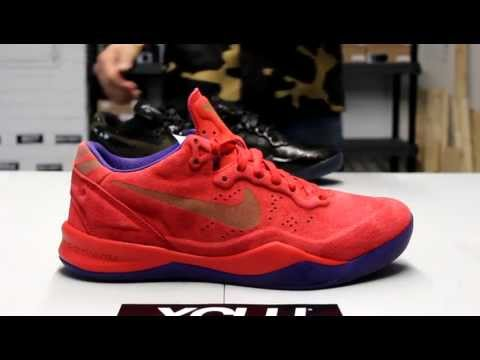 96c91726d9e5 Nike Kobe 8 EXT Year of the Sneak Red Suede Unboxing at Exclucity