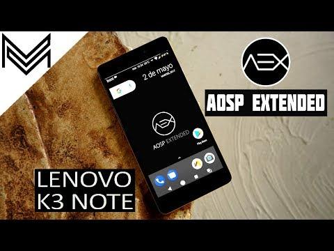 lenovo-k3-note- -android-7.1.2-nougat-update- -aosp-extended-rom