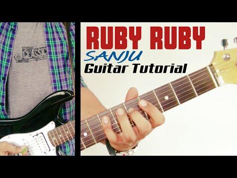 Ruby Ruby | SANJU | Guitar Lesson | Original Solo | Leading Tabs Tutorial | Ranbir | A.R. Rahman