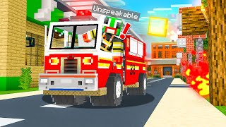 BECOMING A FIREFIGHTER IN MINECRAFT!