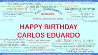 CarlosEduardo   Languages Idiomas - Happy Birthday