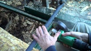 How I Hand Sharpen A Bandsaw Mill Blade