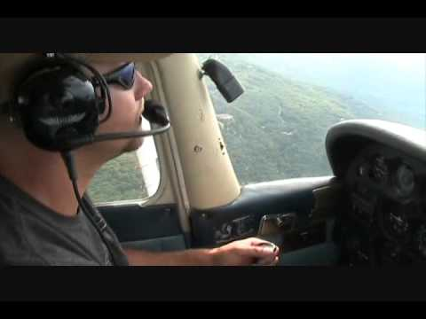 Ron flying the Cessna 172 over the Blue Ridge Mountains