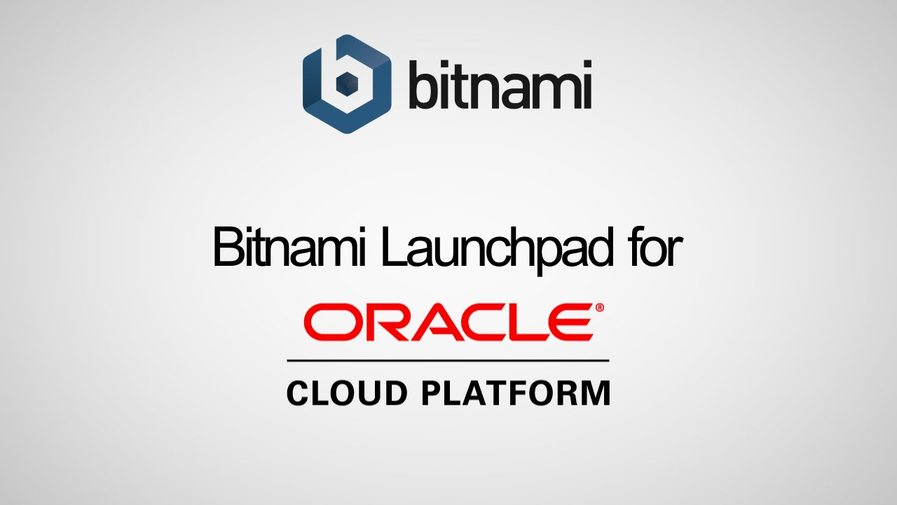 Bitnami Oracle Cloud Infrastructure Classic Launchpad