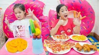 Xúc Xích Pizza và Rau Củ Quả ❤ Bữa Ăn Tốt Cho Sức Khỏe - Trang Vlog