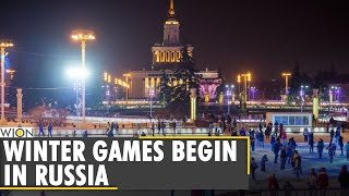 Russia: COVID-19 dampens ice-skating festival | Europe's biggest Ice rink in Moscow | World News