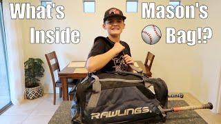 What's Inside Mason's New Baseball Bag