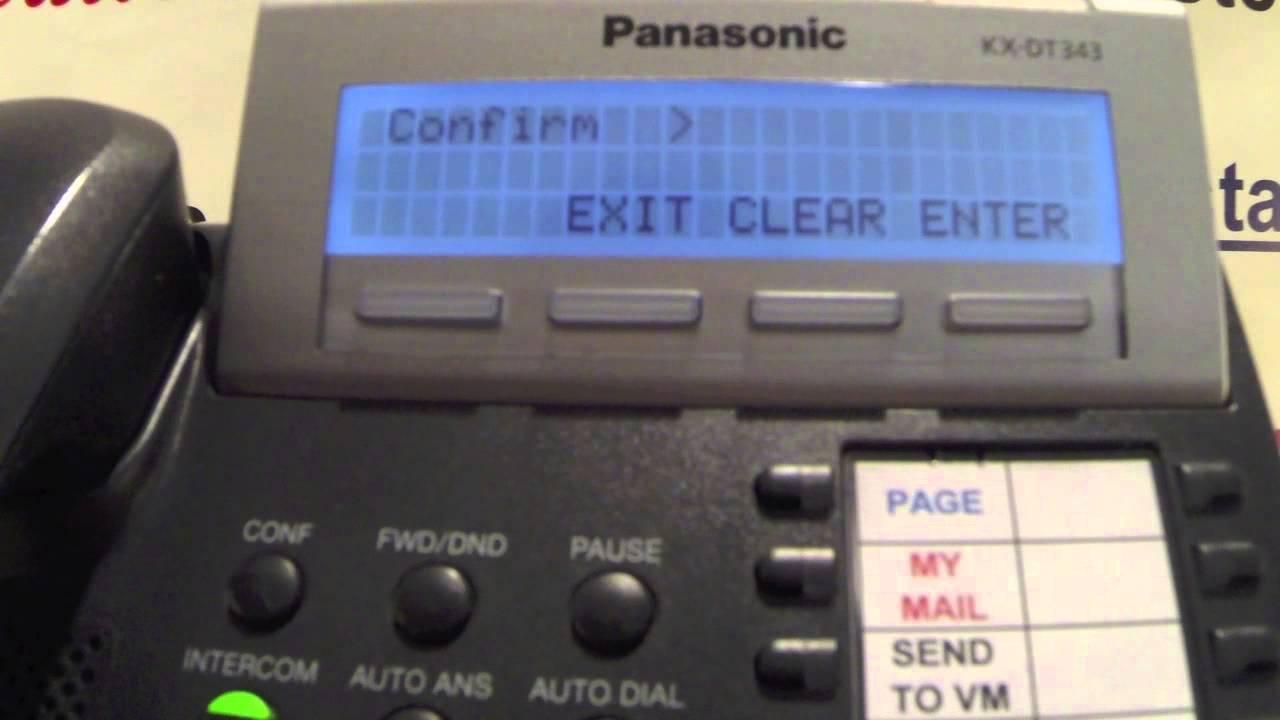 Solve Panasonic KX-T7633 problem