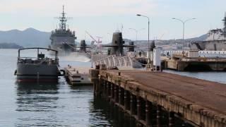 潜水艦基地で潜水艦を見てきた。