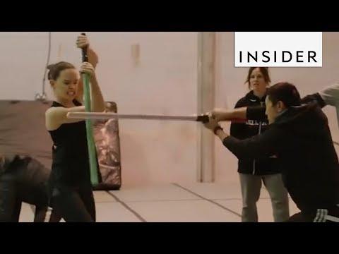 Download Youtube: Daisy Ridley Has Master Lightsaber Skills