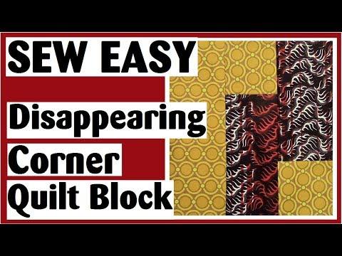 Disappearing Corner Quilt Block | Easy Quilt Block Tutorial