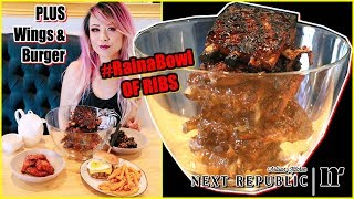 #RainaBowl of Ribs @ Next Republic Kitchen - I made Braised Pork Belly for him before he got home :3