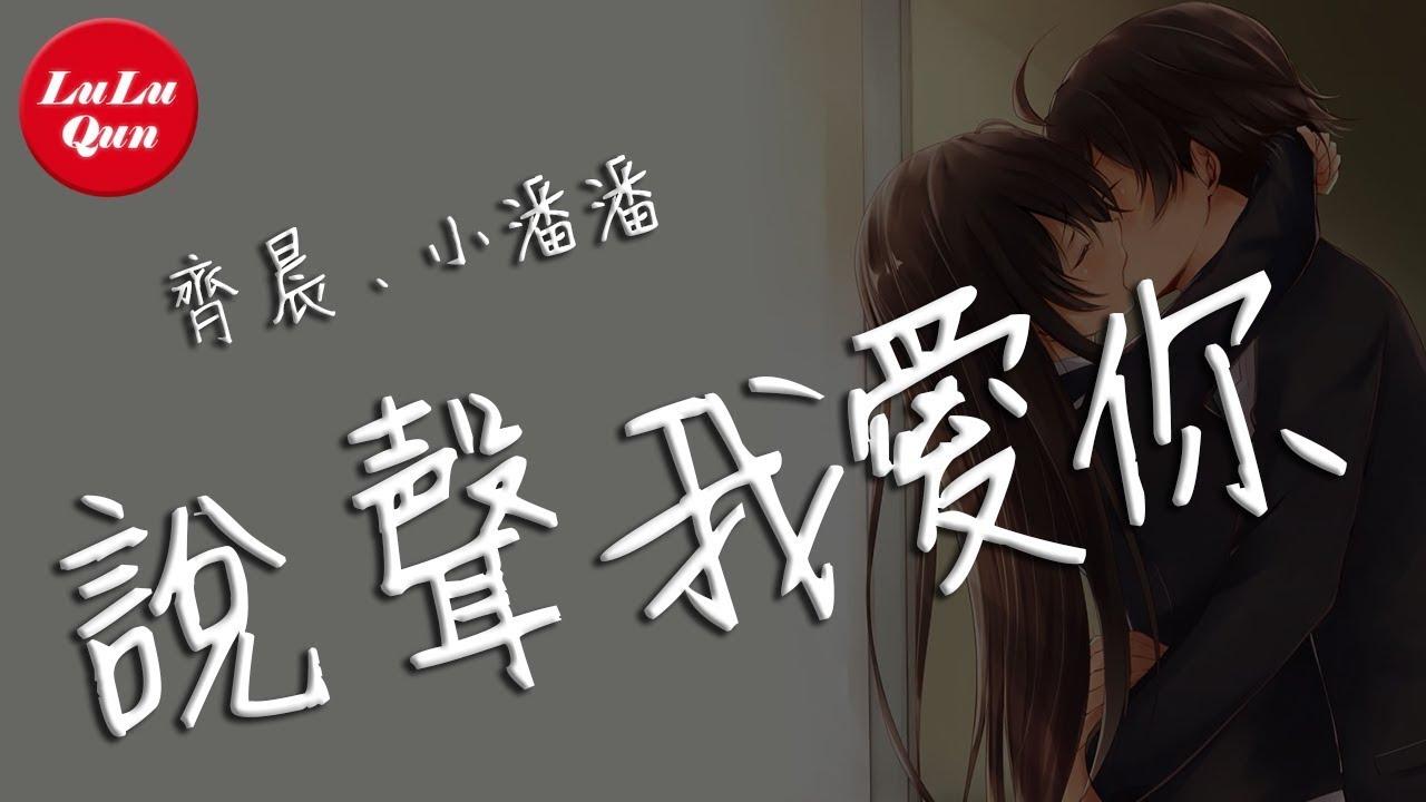 抖音《說聲我愛你》齊晨,地鐵等待,小潘潘【動態歌詞Lyrics】 - YouTube