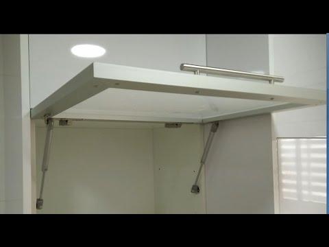 Como poner un amortiguador de gas en las puertas de cocina - Bisagras armarios cocina ...