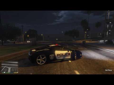 GTA 5 TEST FERRARI 458 ITALIA POLICE