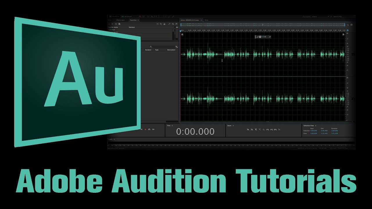Adobe Audition Cc Tutorial 1 The Layout Customising The Workspace