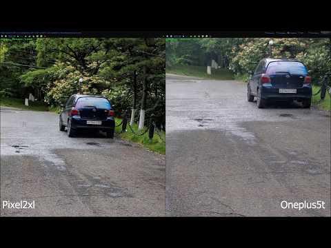OnePlus 5T C Google камерой Vs PIXEL 2XL сравнение камер/фото/видео